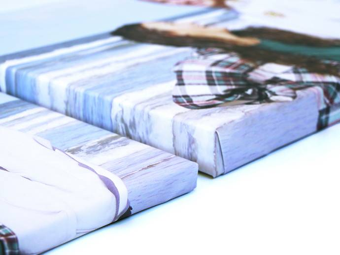 Canvas met 2cm en 4cm dikke frames