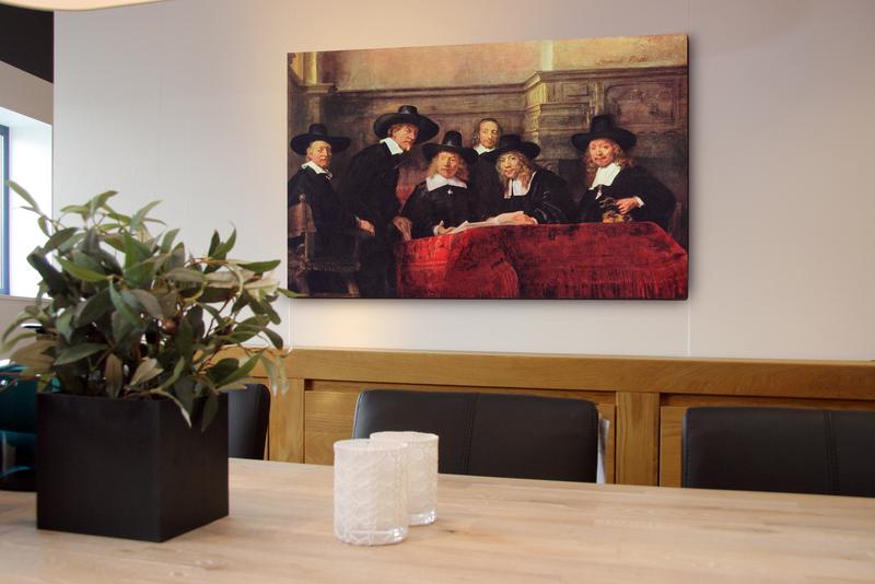 canvas 4cm gevernist 90x110 cm